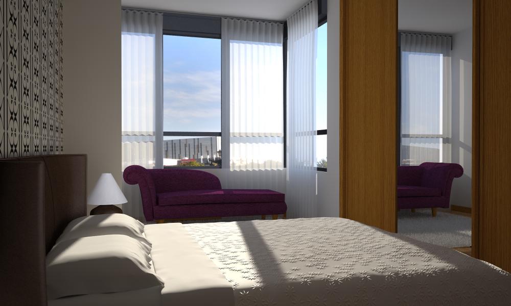 Vista interior dormitorio vivienda tipo c adecursos for Vivienda interior