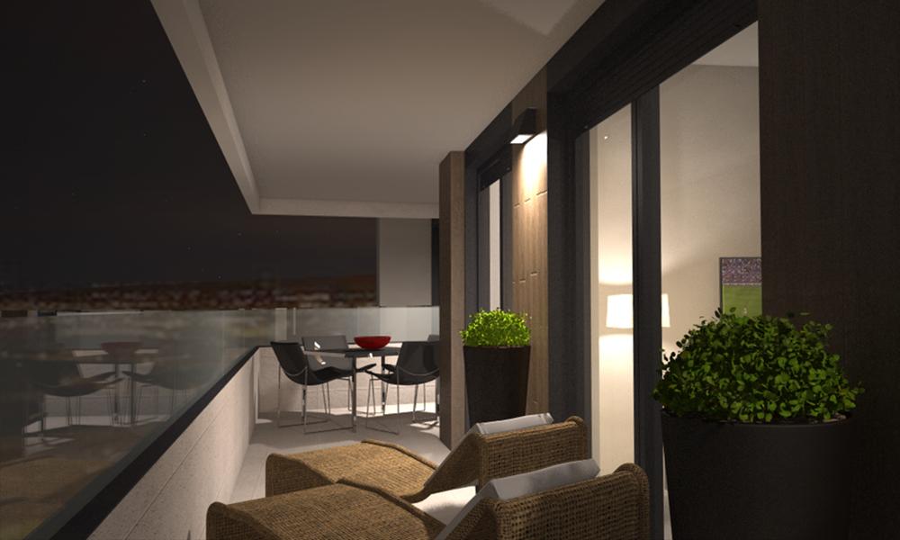 Terraza tipo d iluminaci n nocturna adecursos - Iluminacion terraza ...