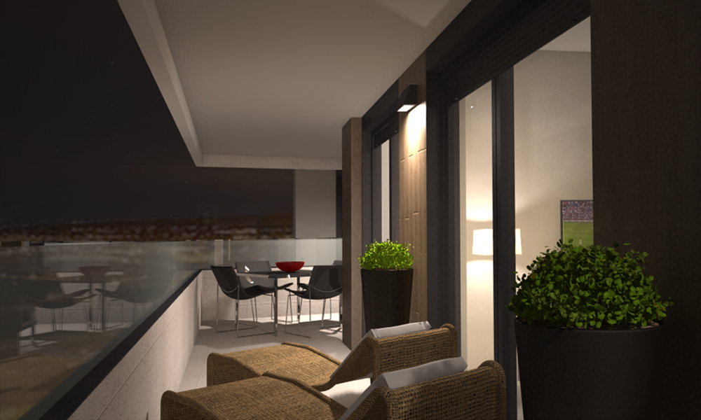 Terraza tipo d iluminaci n nocturna adecursos for Iluminacion terraza